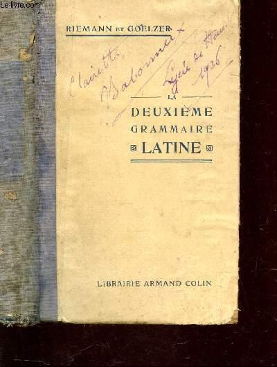DEUXIEME GRAMMAIRE LATINE / Révision de la 1e grammaire et compléments, thèmes et versions, exercices de mémoire, notions de prosodie - Lexiques latin  francais francais-latin + 4 cartes.