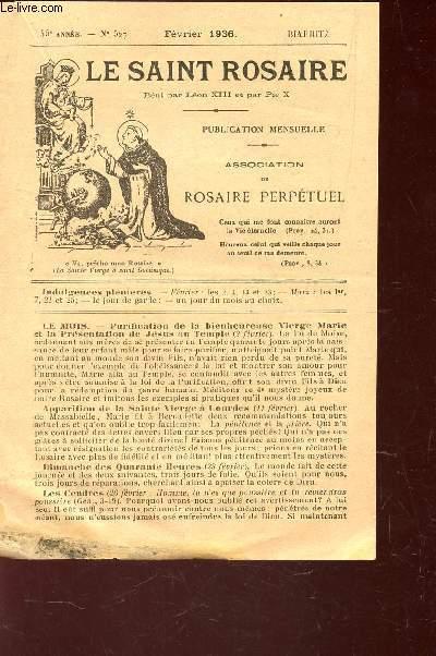 LE SAINT ROSAIRE - 45e ANNEE - N°520 - JUILLET 1936 - BIARRITZ.