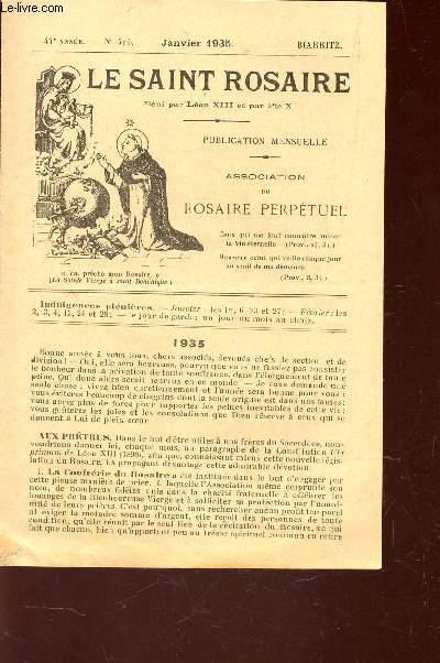 LE SAINT ROSAIRE - 44e ANNEE - N°508 - JANVIER 1934 - BIARRITZ.