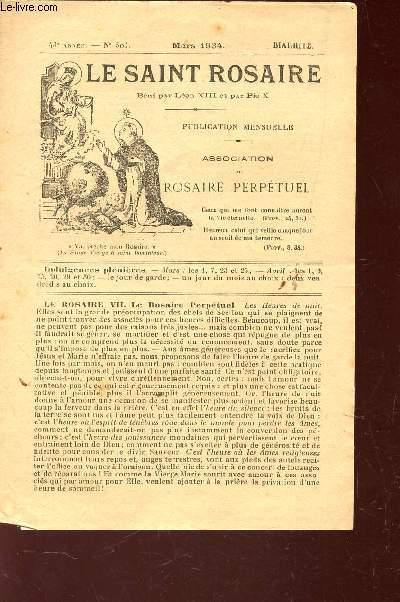 LE SAINT ROSAIRE - 43e ANNEE - N°508 - JUILLET 1934 - BIARRITZ.