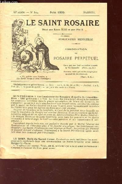 LE SAINT ROSAIRE - 43e ANNEE - N°528 - MARS 1936    - BIARRITZ.
