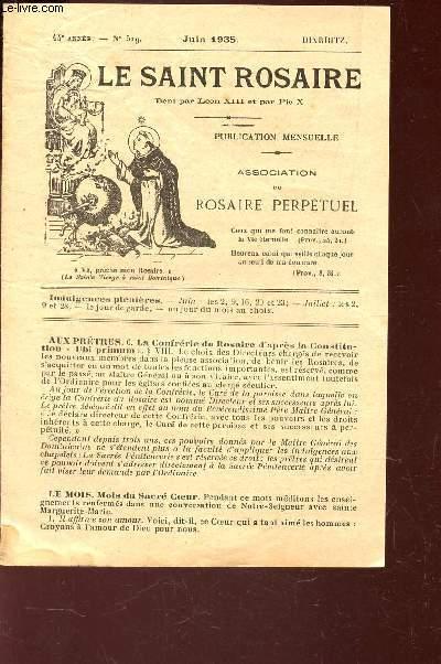 LE SAINT ROSAIRE - 44e ANNEE - N°519 - JUIN 1935     - BIARRITZ.