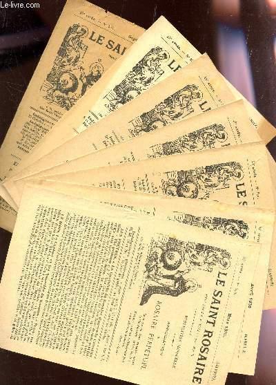 LE SAINT ROSAIRE : LOT DE 7 FASCICULES - 44 ET 45e ANNEES - N°516-517- et de 529 à 534 inclus (années 1935-36)     - BIARRITZ.