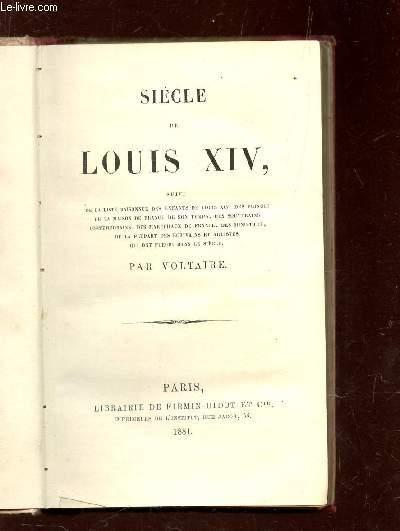 SIECLE DE LOUIS XIV -