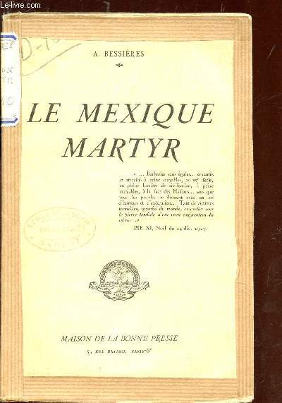 LE MEXIQUE  MARTYR
