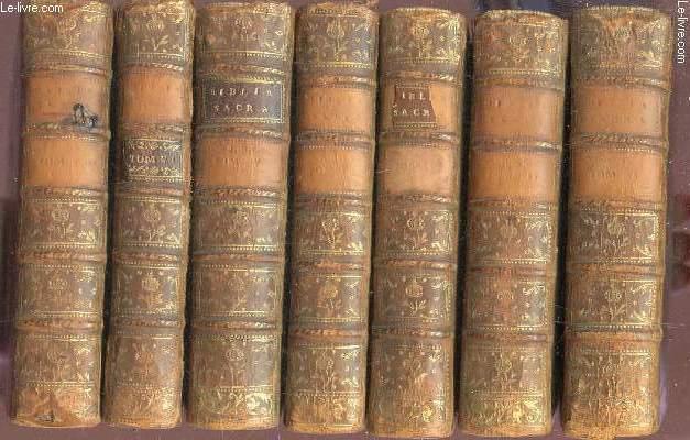 BIBLIA SACRA - Biblia Sacra Vulgat. Editionis, Sixti V. Pont. Max. authoritate recognita. Nunc vero iussu Cleri Gallicani denuo edita / EN 7 VOLUMES SUR 8  - INCOMPLET - MANQUE TOME VII.