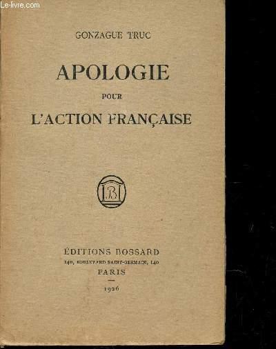 APOLOGIE POUR L'ACTION FRANCAISE.