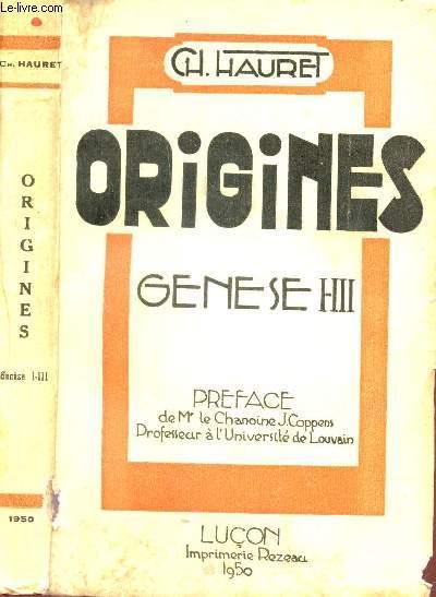 ORIGINES - GENESE HII /   DE L'UNIVERS ET DE L'HOMME D'APRES LA GUERRE -