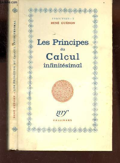 LES PRINCIPES DU CALCUL INFINITESIMAL /
