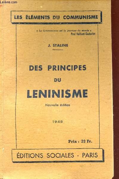 DES PRINCIPES DU LENINSME / COLLECTION