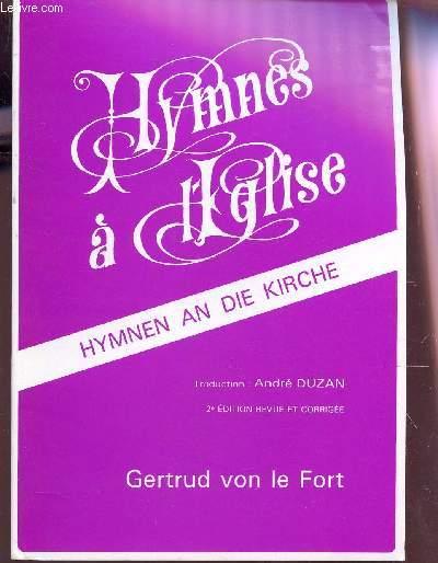 HYMNES A L'EGLISE - HYMNEN AN DIE KIRCHE / 2e EDITION