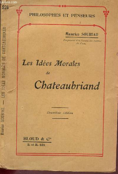 LES IDEES MORALES DE CHATEAUBRIAND / COLLECTION