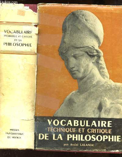vocabulaire technique et critique de la philosophie pdf