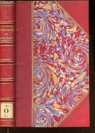 OEUVRES DE BOILEAU - AVEC NOTES ET IMITATIONS DES AUTEURS ANCIENS - PRECEDEES D'UNE NOTICE PAR C.A. SAINTE-BEUVE.
