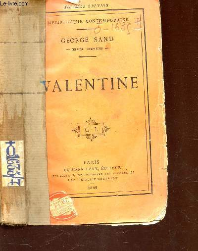 VALENTINE / BIBLIOTHEQUE CONTEMPORAINE / NOUVELLE EDITION.