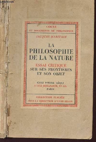 LA PHILOSOPHIE DE LA NATURE - cours et documents de hpilosophie .