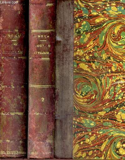 SOUVENIRS LITTERAIRES - EN 2 VOLUMES : TOME PREMIER + TOME SECOND
