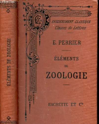 ELEMENTS DE ZOOLOGIE - conformes aux programmes officiels du 28 janvier 1890 / 4e EDITION.