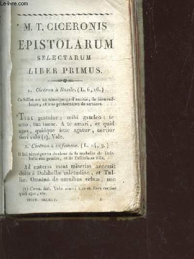 SELECTARUM M.T. CICERONIS EPISTOLARUM LIBRI QUATUOR / NOVA EDITIO.