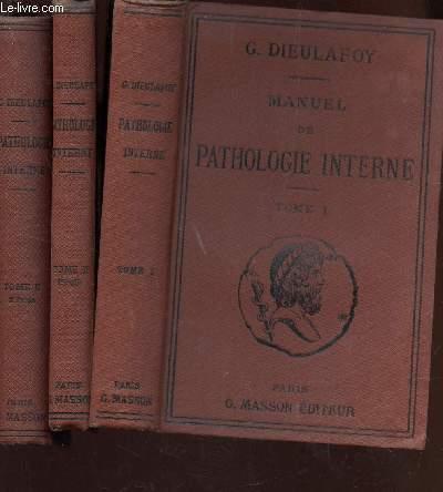 MANUEL DE PATHOLOGIE INTENSE - EN 3 VOLUMES : TOME I + TOME II (1ere PARTIE) + TOME II (2e PARTIE).