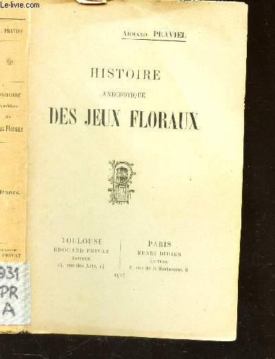 HISTOIRE ANECDOTIQUE DES JEUX FOLRAUX.