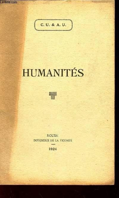 HUMANITES - HUMANITES GRECQUES ET LATINES.