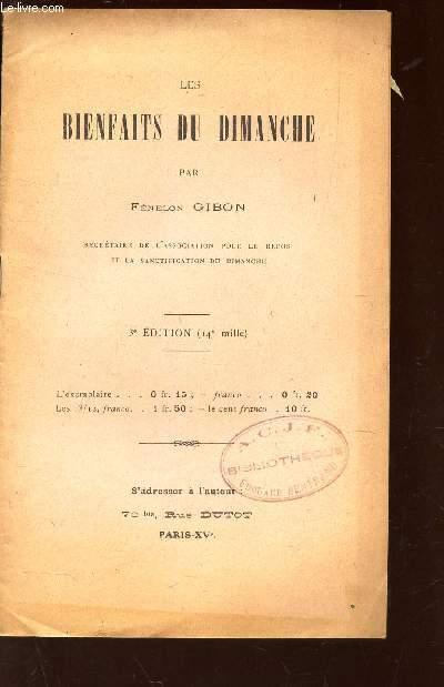 LES BIENFAITS DU DIMANCHE / 3e PLAT.
