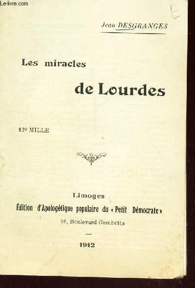 LES MIRACLES DE LOURDES