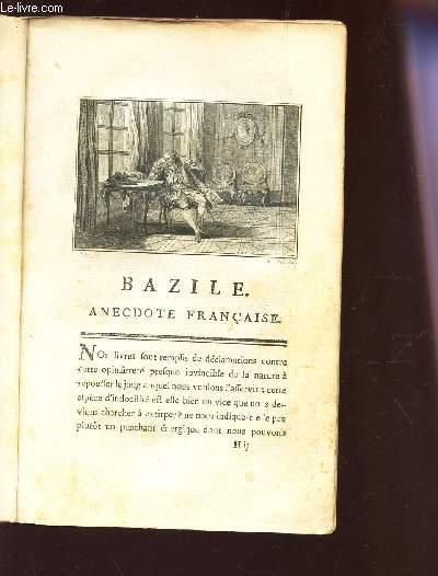 BAZILE - ANECDOTE FRANCAISE - TOME III.