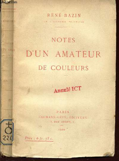 NOTES D'UN AMATEUR DE COULEURS