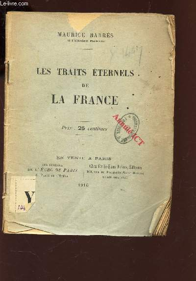 LES TRAITS ETERNELS DE LA FRANCE -