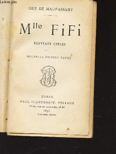 Mlle FIFI - NOUVEAUX CONTES / NOUVELLE EDITION.