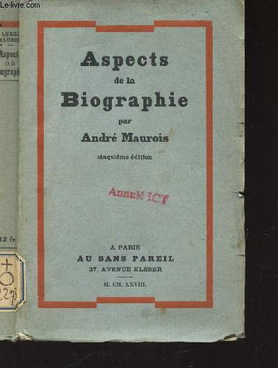 ASPECTS DE LA BIOGRAPHIE / 5e EDITION.