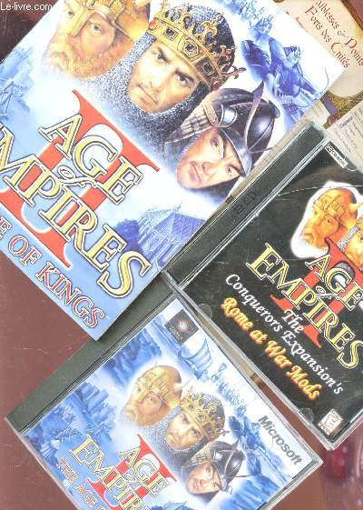 COFFRET : AGE OF EMPIRES - THE ANGE OF KINGS / 1 MANUEL D'UTILISATION + 2 CD ROM.