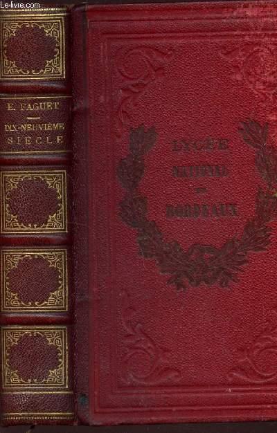 DIX-NEUVIEME SIECLE - ETUDES LITTERAIRES / CHATEAUBRIAND LAMARTINE ALFRED DE VIGNY VICTOR HUGO A DE MUSSET TH GAUTIER P MERIMEE MICHELET GEORGES SAND BALZAC / 12e EDITION.