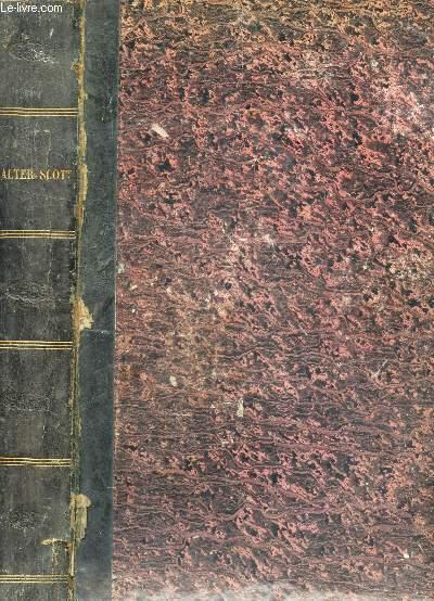 OEUVRES DE WALTER SCOTT commprenant Crowell - ivanhoé - Le comte Robert de Paris - Le nain noir - Le chateau dangereux - Le pirate - Peveril du Pic - Le monastere - Guy Mannering