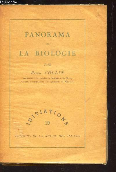 PANORAMA DE LA BIOLOGIE