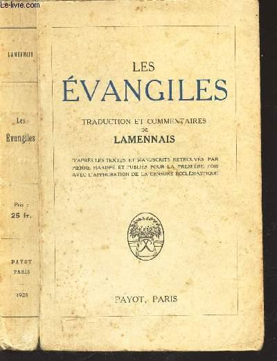 LES EVANGILES - TRADUCTION ET COMMENTAIRES DE LAMENNAIS.