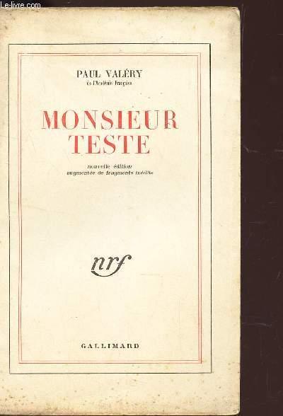 MONSIEUR TESTE / NOUVELLE EDITION.