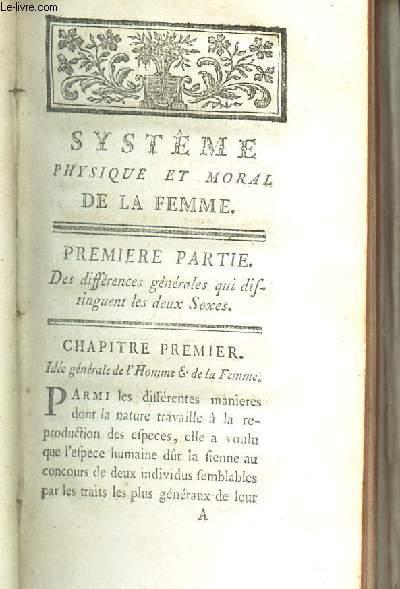 SYSTEME PHYSIQUE ET MORAL DE LA FEMME