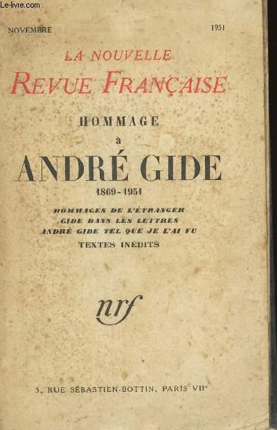 HOMMAGE A ANDRE GIDE - Hommages de l'etranger -  gide dans les lettres - André Gide tel que de je l'ai vu - TEXTES INEDITS / COLELCTION