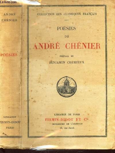 POESIES DE ANDRE CHENIER / COLECTION DES CLASSIQUES FRANCAIS