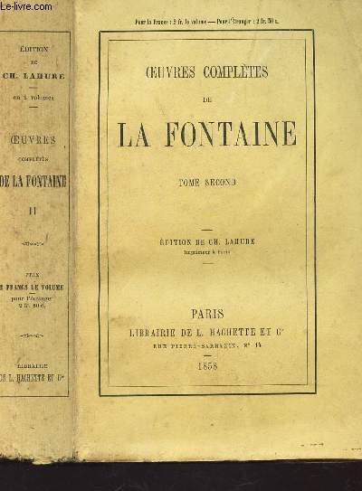 OEUVRES COMPLETES DE LA FONTAINE - TOME SECOND.