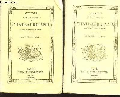 OEUVRES DE L. LE VICOMTE DE CHATEAUBRIAND - EN 2 VOLUMES : TOMES I ET II : LES NATCHEZ.