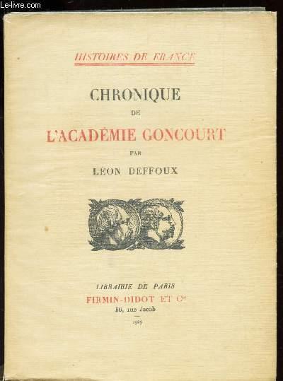 CHRONIQUE DE L'ACADEMIE GONCOURT / COLLECTION