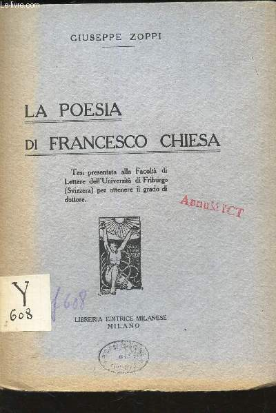LA POESIA DI FRANCESCO CHIESA -