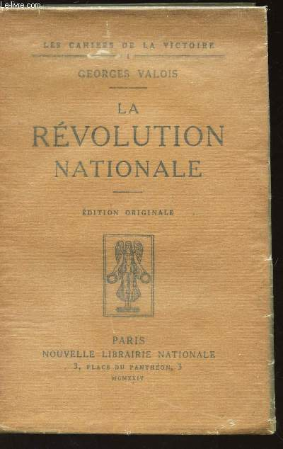 LA REVOLUTION NATIONALE / N°1 DE AL COLELCTION