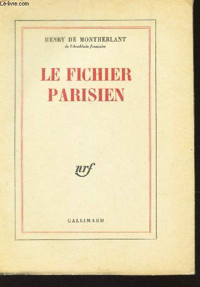 LE FICHIER PARISIEN / EDITION DEFINITIVE.