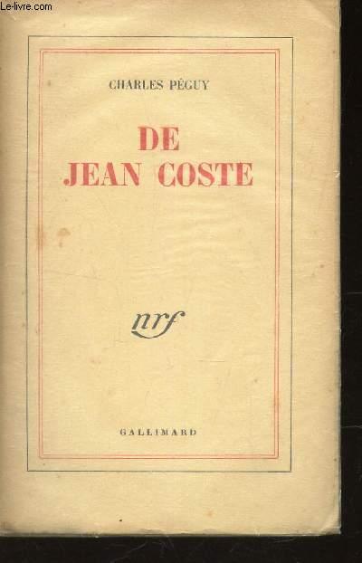 DE JEAN COSTE