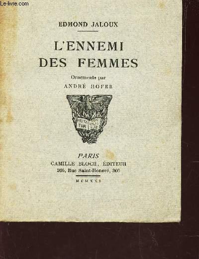 L'ENNEMI DES FEMMES